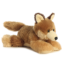 Clever Coyote Mini Flopsies Stuffed Animal