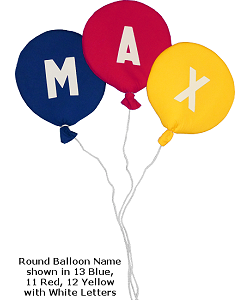Round Balloon Letters & Names Fabric Wall Art