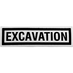 Excavation Sign Fabric Wall Art