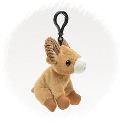 Big Horn Wildlife Plush Clip-On Stuffed Animal