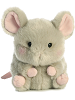 Frisk Mouse Rolly Pets Stuffed Animal by Aurora World (Front View)