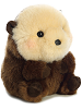 Smiles Sea Otter Rolly Pets Stuffed Animal by Aurora World (Rotated View)