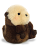 Smiles Sea Otter Rolly Pets Stuffed Animal by Aurora World (Rolled Back View)
