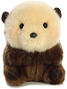 Smiles Sea Otter Rolly Pets Stuffed Animal by Aurora World (Front View)