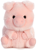 Prankster Pig Rolly Pets Stuffed Animal by Aurora World (Front)