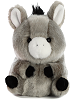 Bray Donkey Rolly Pets Stuffed Animal by Aurora World (Front)