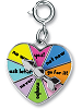CHARM IT! Heart Spinner Charm by High IntenCity