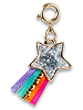 CHARM IT! Glitter Shooting Star (Gold-Tone) Charm by High IntenCity (Front)