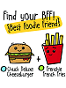 BFFs Chuck Deluxe Cheeseburger Ultra Rare Boxed & Frenchie French Fries Common Visible Scrumchums
