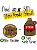 BFFs Stax Pancakes Common Boxed & Saps Maple Syrup Common Visible Scrumchums