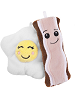BFFs Hickory Bacon Rare & Crackle Egg Common Boxed Scrumchums Plush Food Keychains