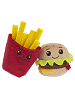 BFFs Frenchie French Fries Common Visible & Chuck Deluxe Cheeseburger Ultra Rare Boxed Scrumchums Plush Food Keychains