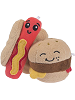 BFFs Frank Hot Dog Rare & Grill Hamburger Common Boxed Scrumchums Plush Food Keychains