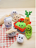 Scrumchums Plush Food Keychains on Picnic