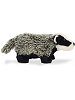 Badger Mini Flopsies Stuffed Animal by Aurora World (Side View)