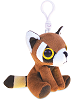 Red Panda Big Eyes Plush Backpack Clip Stuffed Animal (Rotated)