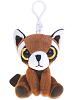 Red Panda Big Eyes Plush Backpack Clip Stuffed Animal by Puzzled