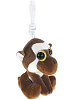 Monkey (Brown) Big Eyes Plush Backpack Clip Stuffed Animal (Rotated)