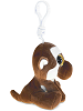 Monkey (Brown) Big Eyes Plush Backpack Clip Stuffed Animal (Side)