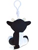Cow Big Eyes Plush Backpack Clip Stuffed Animal (Back View)