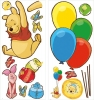 Winnie the Pooh & Piglet RoomMates Giant Wall Decals Sheets