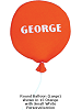 Round Balloon (Large) Fabric Wall Art shown in #15 Orange with Small, White Personalization