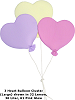 3 Heart Balloon Cluster (Large) Fabric Wall Art shown in #32 Lemon, #36 Lilac, #61 Pink Glow