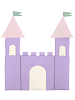 Castle Fabric Wall Art shown in 36 Lilac, 31 Pink, 49 Parchment, 44 Dusty Green
