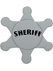 Sheriff Badge Fabric Wall Art shown in 47 Gray with Black Letters