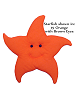 Starfish Fabric Wall Art shown in #15 Orange with Brown Eyes