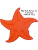 Starfish Fabric Wall Art shown in #15 Orange (without Face)