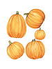 Jack O'Lantern Giant Wall Decals Sheet A