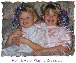 Holli & Heidi Playing Dress Up