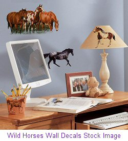 Wild Horses Wall Decals Stock Image