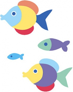 Olive Kids Somethin' Fishy Wallies Wallpaper Cutouts