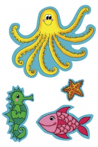 KP Kids Sea Creatures Wallies Wallpaper Cutouts