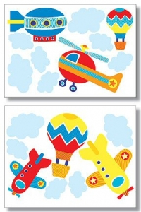 Up, Up, and Away Wallies Big Mural Wallpaper Cutouts