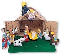 Nativity House Cloth Playset by Pockets of Learning
