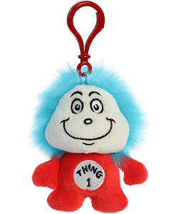 Thing 1 Dr. Seuss Plush Clip-On Stuffed Animal by Aurora