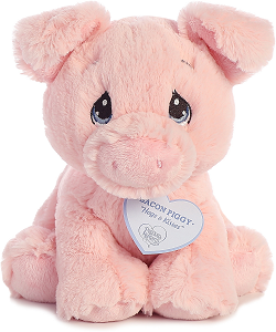 Bacon Piggy Precious Moments Plush Animal by Aurora