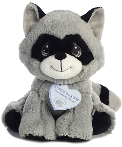 Rascal Raccoon Precious Moments Plush Animal by Aurora