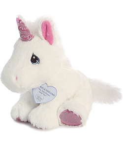 Sparkle Unicorn Precious Moments Plush Animal by Aurora