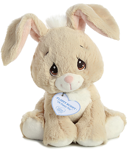 Floppy Bunny (Tan) Precious Moments Plush Animal by Aurora