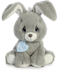 Floppy Bunny (Grey) Precious Moments Plush Animal by Aurora