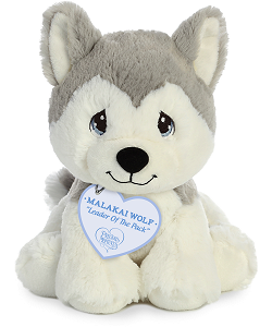Malakai Wolf Precious Moments Plush Animal by Aurora