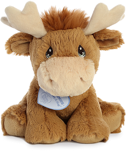 Monty Moose Precious Moments Plush Animal by Aurora