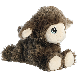 Luffie Lamb (Taupe) Precious Moments Plush Animal by Aurora