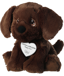 Cocoa Labrador Precious Moments Plush Animal by Aurora