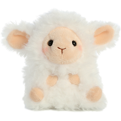 Lyssa Lamb Rolly Pets Stuffed Animal by Aurora World (Front)