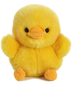 Dewey Duckling Rolly Pets Stuffed Animal by Aurora World (Front)